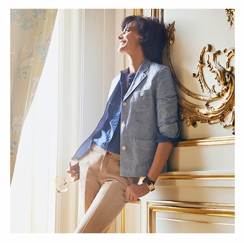 ines de la fressange x uniqlo collaboration goes online. Black Bedroom Furniture Sets. Home Design Ideas