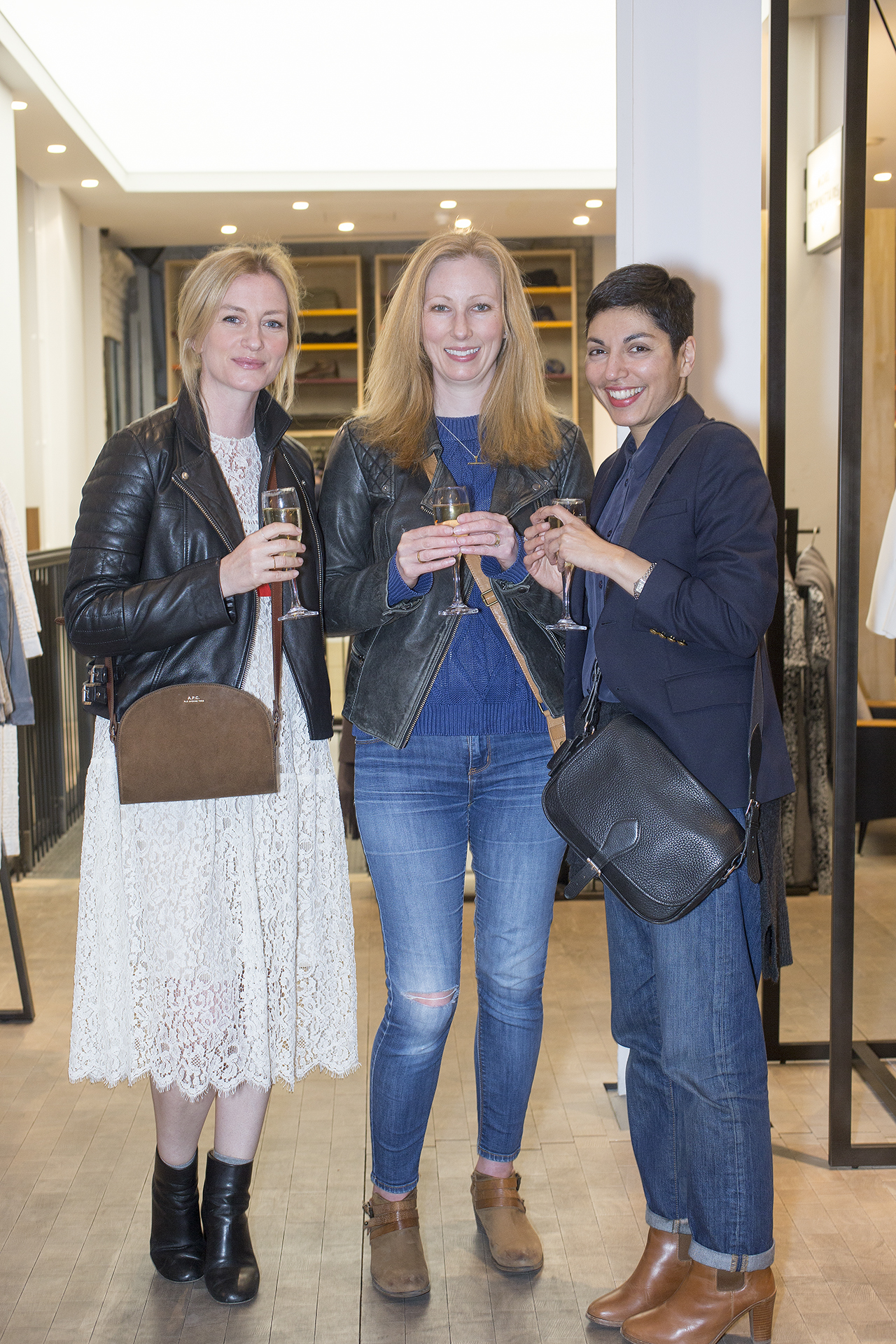 From the left: Stacey Duguid, Lucy McQuiitty and Navaz Batliwalla