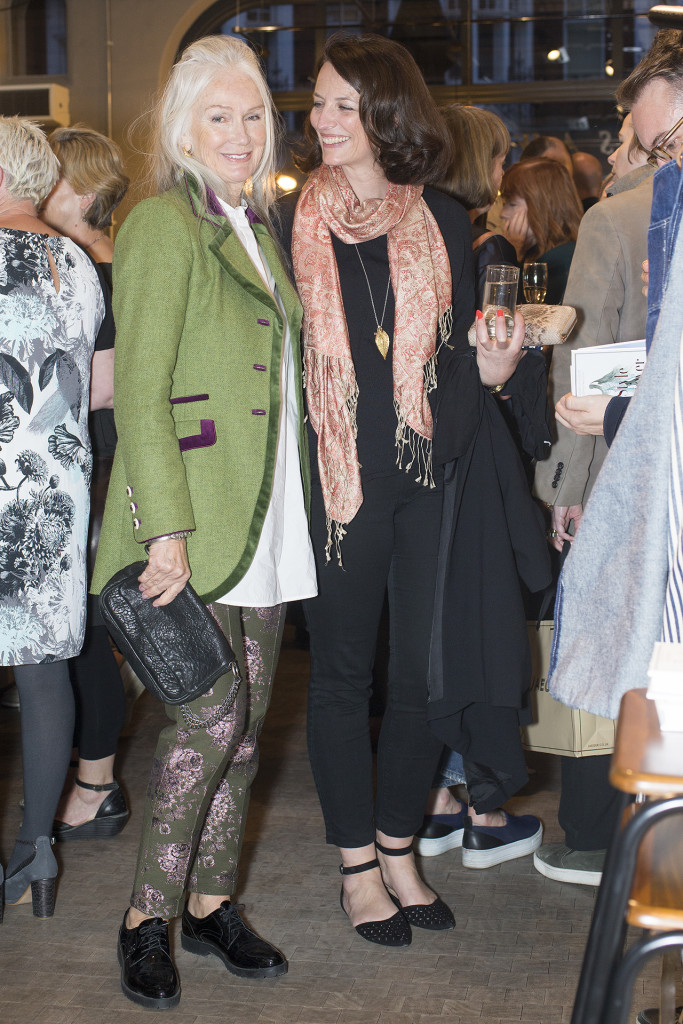Rebi from Mrs Robinson Management (on the right) and one of her fabulous older models