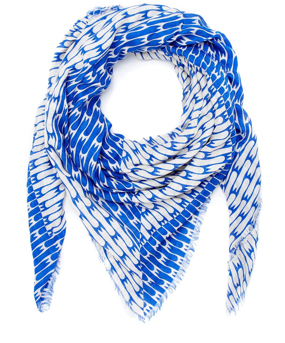ss15sophie hulme scarf-blue