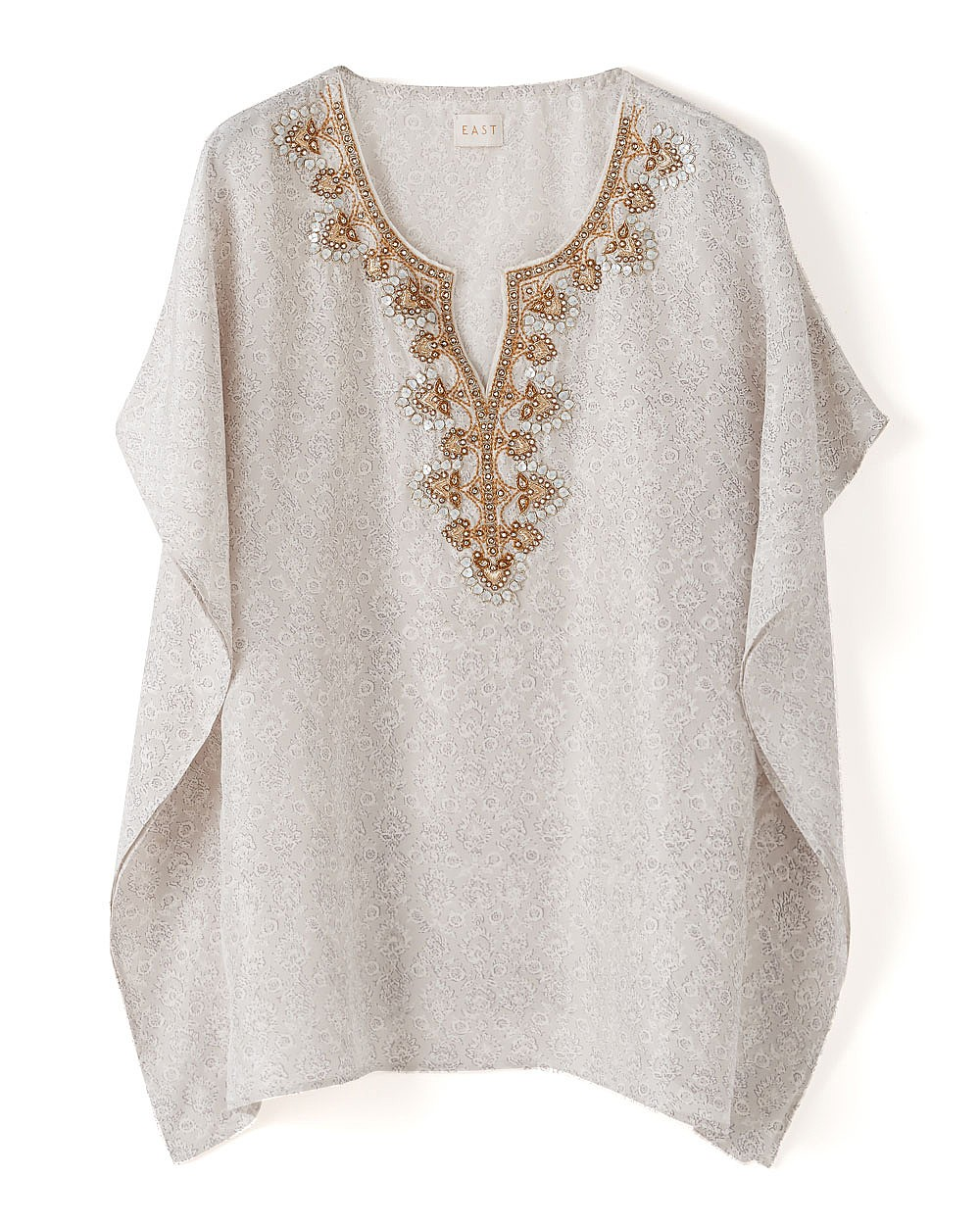 EAST Gold Embellished Silk Tunic £150