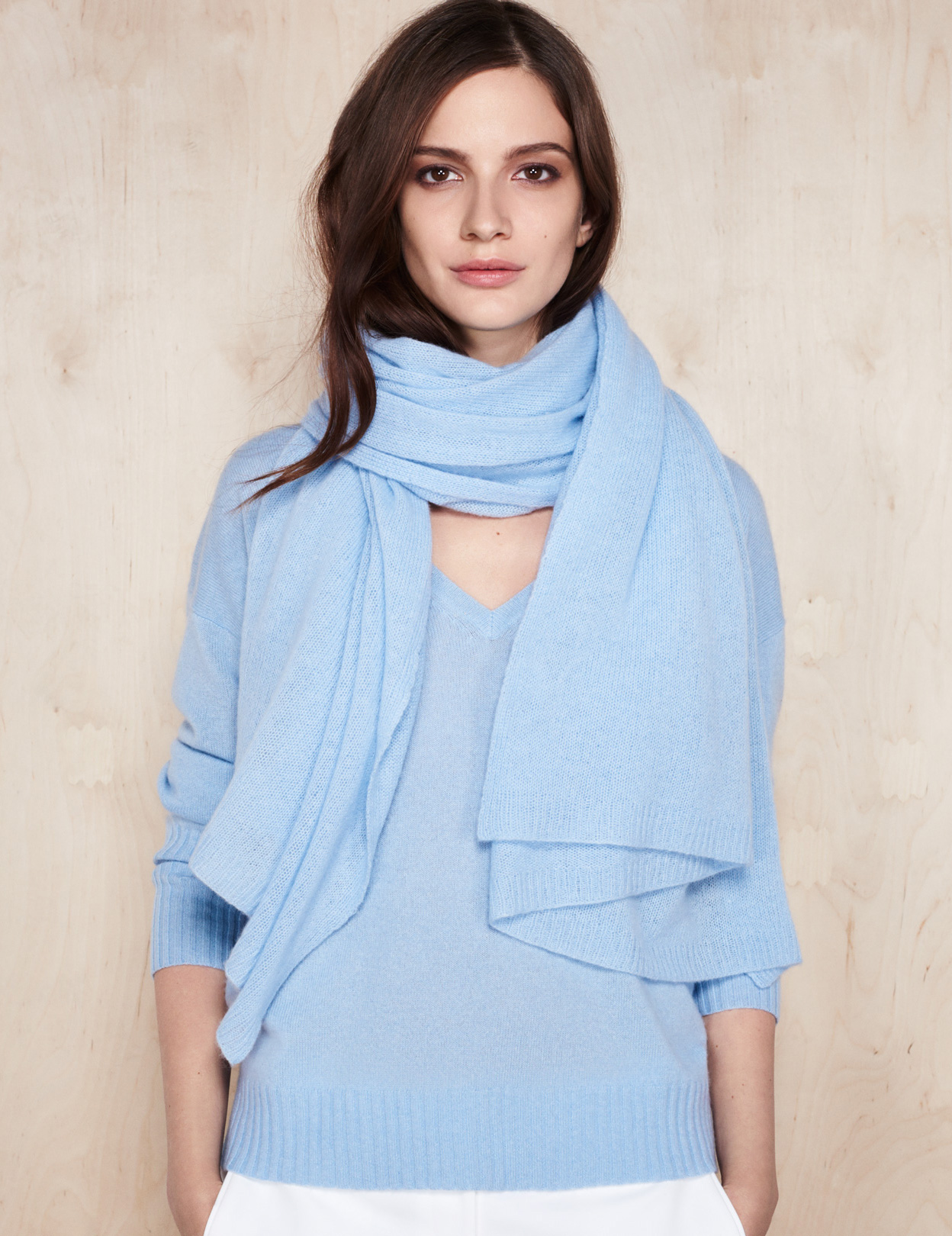 Cashmere Wrap and Cashmere V Neck Jumper