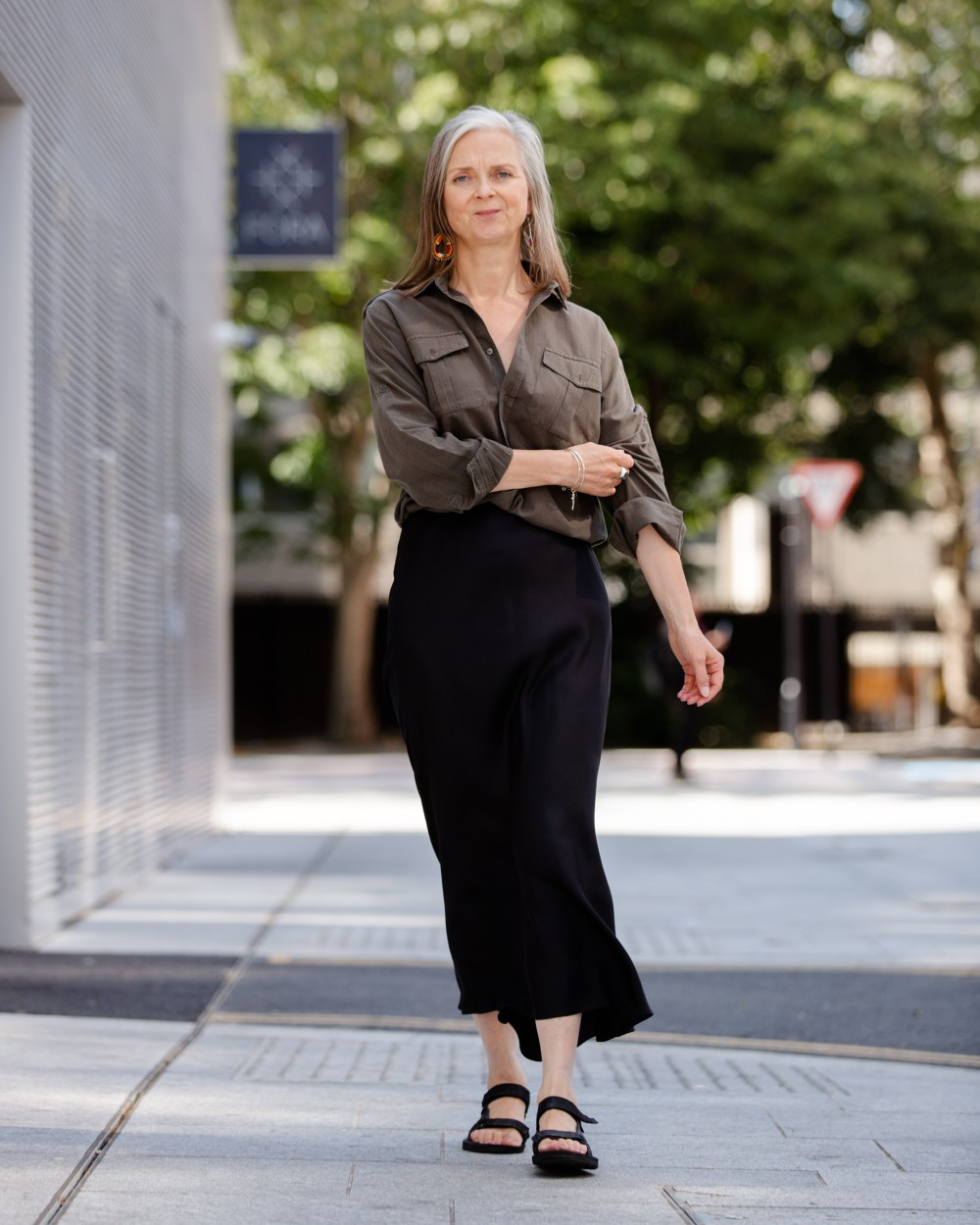 Wearing old clothes in a new way (revisiting the silk slip skirt)