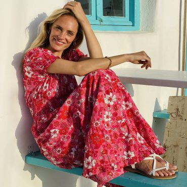 Take a 'holiday at home' in a joyful summer dress from Pink City Prints